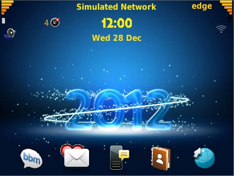 Color Year 2012 Theme New Year 2012 Bbm